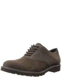 Chaussures richelieu en daim olive