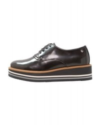 Chaussures richelieu grises foncées Tommy Hilfiger