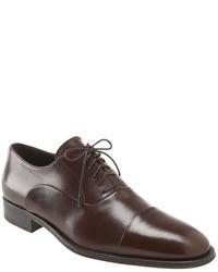 Chaussures richelieu marron foncé