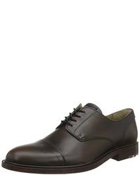 Chaussures richelieu marron foncé Boss Orange