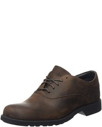 Chaussures richelieu marron foncé Timberland