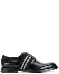 Chaussures richelieu noires Fendi