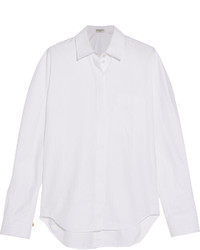 Chemise à chevrons blanche Balenciaga