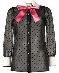 Chemise à étoiles noire Gucci