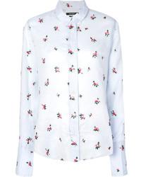 Chemise à fleurs bleu clair Isabel Marant