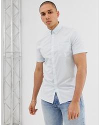 Chemise à manches courtes à carreaux blanche Lacoste