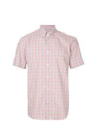 Chemise à manches courtes à carreaux multicolore