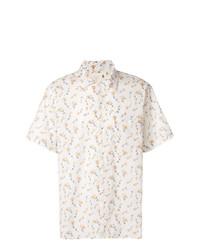 Chemise à manches courtes à fleurs beige R13