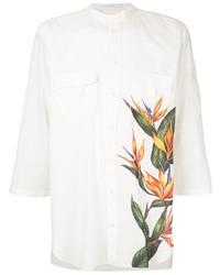 Chemise à manches courtes à fleurs blanche Dolce & Gabbana