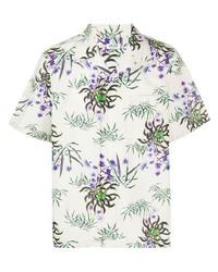 Chemise à manches courtes à fleurs blanche Kenzo