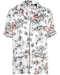 Chemise à manches courtes à fleurs blanche Off-White