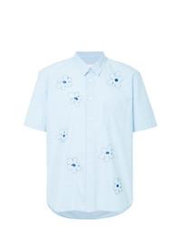 Chemise à manches courtes à fleurs bleu clair Jimi Roos