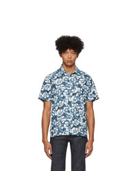 Chemise à manches courtes à fleurs bleue A.P.C.
