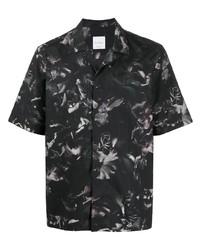 Chemise à manches courtes à fleurs gris foncé Paul Smith