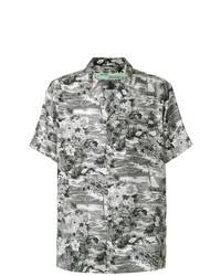 Chemise à manches courtes à fleurs grise Off-White