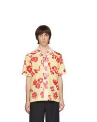 Chemise à manches courtes à fleurs jaune Wales Bonner
