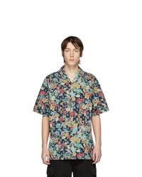 Chemise à manches courtes à fleurs multicolore Gucci