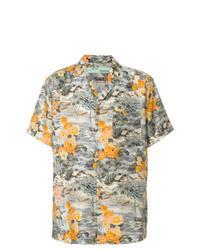 Chemise à manches courtes à fleurs multicolore Off-White