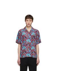 Chemise à manches courtes à fleurs multicolore Prada