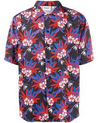 Chemise à manches courtes à fleurs multicolore Sss World Corp