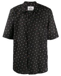 Chemise à manches courtes à fleurs noire Vivienne Westwood