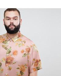 Chemise à manches courtes à fleurs rose ASOS DESIGN