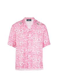 Chemise à manches courtes à fleurs rose DSQUARED2