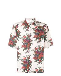 Chemise à manches courtes à fleurs rose McQ Alexander McQueen