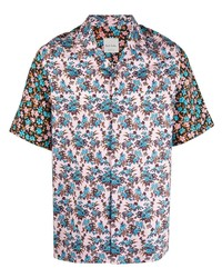 Chemise à manches courtes à fleurs rose Paul Smith