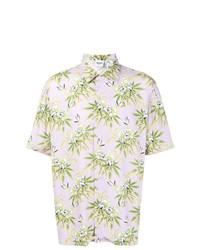 Chemise à manches courtes à fleurs rose Sss World Corp