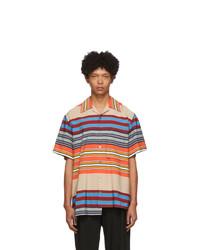 Chemise à manches courtes à rayures horizontales multicolore Wooyoungmi