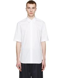 Chemise à manches courtes à rayures verticales blanche 3.1 Phillip Lim