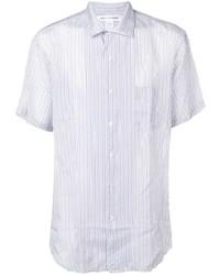 Chemise à manches courtes à rayures verticales blanche Comme Des Garcons SHIRT