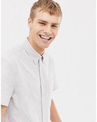 Chemise à manches courtes à rayures verticales blanche J.Crew Mercantile