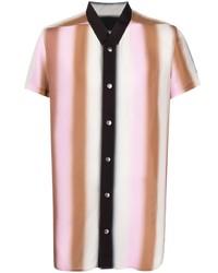 Chemise à manches courtes à rayures verticales multicolore Rick Owens