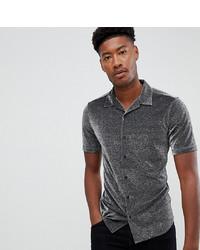 Chemise à manches courtes argentée ASOS DESIGN