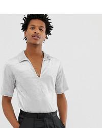 Chemise à manches courtes argentée Reclaimed Vintage