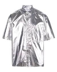 Chemise à manches courtes argentée The Celect