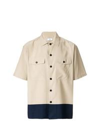Chemise à manches courtes beige AMI Alexandre Mattiussi