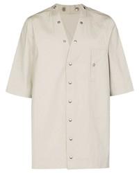 Chemise à manches courtes beige Rick Owens