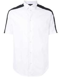 Chemise à manches courtes blanche et noire Emporio Armani