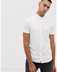 Chemise à manches courtes blanche Emporio Armani