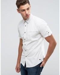 Chemise à manches courtes blanche Esprit