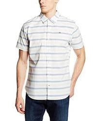 Chemise à manches courtes blanche Hilfiger Denim