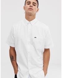 Chemise à manches courtes blanche Lacoste