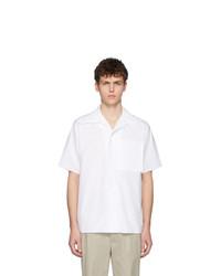 Chemise à manches courtes blanche Maison Margiela
