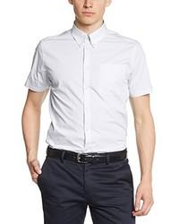 Chemise à manches courtes blanche Merc of London