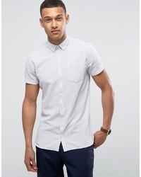 Chemise à manches courtes blanche Minimum