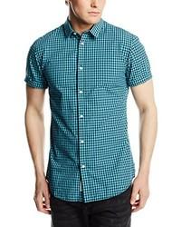 Chemise à manches courtes bleu canard Jack & Jones