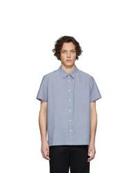 Chemise à manches courtes bleu clair A.P.C.